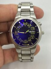 Rare Fossil Mens Wrist Watch JR8153 Bigtic Zodiac Astronomy Wrist Watch New Batt