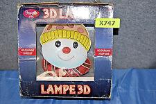 Snowman 3D Holographic Table Lamp Sculpture Eyes Follow You X747