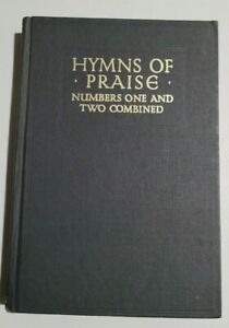 Hymns of Praise: Books One and Two Combined - 1969 F.G. Kingsbury - Very Good