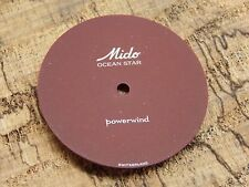 Mido Ocean Star Powerwind Burgandy Watch Dial Vintage 27.76mm Plain w/o Markers