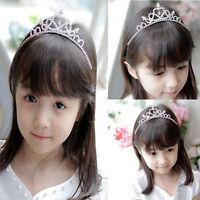 Kids Girls Child Wedding Prom Crystal Rhinestones Tiara Princess Crown Headband~