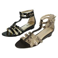 Ladies VAN DAL Leather Patent Strappy Wedge Sandals : Dily EX-DISPAY