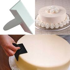Dough Cake Icing Decorating Supplies Smoother Curve Edge Scraper Cake Cutting US