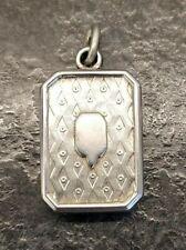 Pocket Watch Chain Fob / Pendant. Antique French White Metal Albert / Albertina