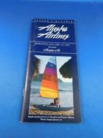 ALASKA AIRLINES SYSTEM TIMETABLE JANUARY 1992 INCLUDES HORIZON AIR ADVERTISING