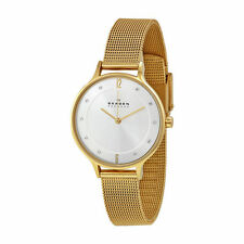Skagen SKW2150 Anita Crystal Goldtone Stainless Steel Mesh Womens Watch