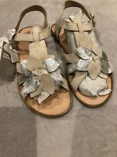 Real Suede Girls Sandals H&M Size 4.5 BNWT