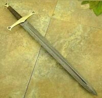 New Custom Handmade Damascus Steel 30inches Sword With Wood Handle