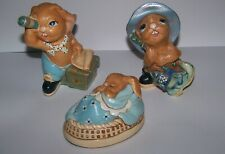 Vintage Pendelfin Stoneware Figurines Lot of 3 Bunnies-Poppet,Whopper & Jim-Lad