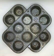 Pair Vintage Ekco Muffin Pans Cupcake Tins 2 Different Styles 080 880 Bakeware
