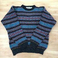 Vintage Men's Mcgregor Cosby Style Knit Sweater 80s 90s Retro Jumper