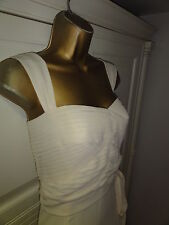Karen Millen beautiful cream bow dress uk 14 42  wedding cocktail