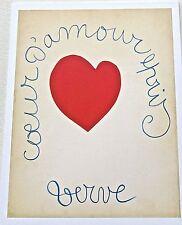 Henri Matisse Poster of Verve Magazine Cover November 1949 Reprinted 13x10