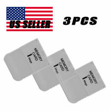 3PCS fast freeshipping Memory Card For Playstation 1 One PS1 PSX Game New B2