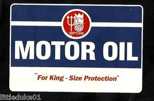 "NEPTUNE PETROL GAS ""LOGO"" SERVICE STATION PROMO VINYL DECAL STICKER Vespa SIGN"