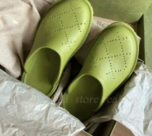 Women's Men's Slippers Rubber Waterproof Shoes Hole Slides Beach Mules Casual