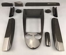 MERCEDES R171 SLK55 AMG BLACK SERIES CARBON ZIERTEILE INTERIOR TRIM KIT LHD+RHD