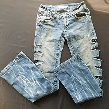 XO Women's Jean Distressed Destroyed Blue Jeans Size 3  (27 x 31)