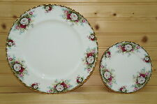 "Royal Albert Celebration Set of (2) Plates, 1-Dinner, 10½"" &  1-Bread Butter 6¼"""