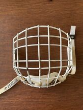 Itech Vintage White Hockey Cage Mask Face Shield Small