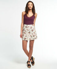 Womens Superdry Button Through Rydell Skirt Vintage Floral L