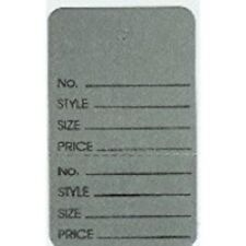 Only Hangers Large Gray 2 Part Perforated Price Coupon Tags / 1000