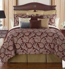 Waterford Linens HARWICH New $430 6 Piece Reversible Queen Comforter Set 6Pc NWT