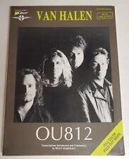 VAN HALEN OU812 GUITAR TAB TABLATURE SONGBOOK SHEET MUSIC BOOK