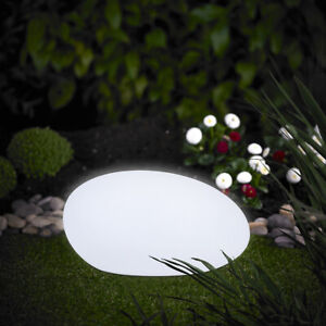 XL LED kugel Stein Solar 40cm Leuchte mit Farbwechsel RGB LK03 Outdoor USB