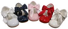 Arco Zapatos Niña Cuero Patente Bautizo del bebé español Dama De Honor Boda