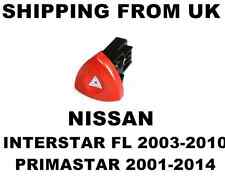 HAZARD WARNING LIGHT SWITCH RED BUTTON DASH for NISSAN INTERSTAR FL PRIMASTAR