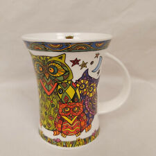 Dunoon Fine China Coffee Mug Cute Owl Design Glitterati by Caroline Dadd