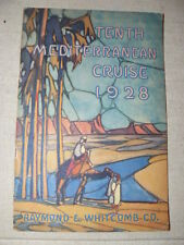 Tenth Mediterranean Winter Cruise Sailing from New York January 21 1928 depliant