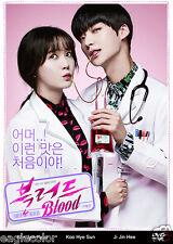 Blood Korean Drama (4DVDs) Excellent English & Quality - Box Set!