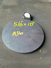 Steel Plate Round Disc 10 Diameter X 58 Thick A36 Lathe Stock