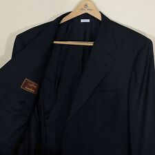 BRIONI 3/2 Roll Sportcoat Jacket Surgeon Cuffs Deep Navy Blue Wool Mens Size 50L