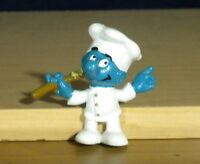 Smurfs Magnet Greedy Smurf Cook Chef Vintage 80s Figure Rare PVC Toy Figurine