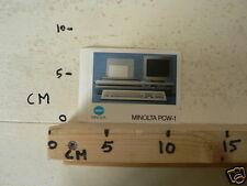 STICKER,DECAL MINOLTA PCW-1 COMPUTER ? B