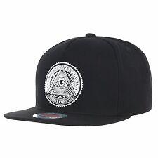 WITHMOONS Snapback Hat Illuminati Patch Hip Hop Baseball Cap AL2344 Black
