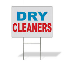 Weatherproof Yard Sign Dry Cleaners Blue Red A Lawn Garden