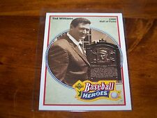 BOSTON RED SOX TED WILLIAMS 1991 UPPER DECK BASEBALL HEROES #35 OF 36
