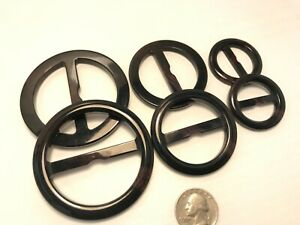Plastic Round Belt Buckle Slider Tri glide 4 colors & 3 sizes to pick from PB119