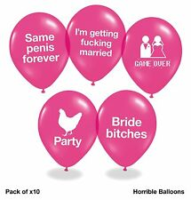 Hen Party Balloons - Pack Of 10 Funny Rude Balloons