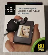 NEW The Sharper Image Digital Photo Album with Keychain USB 2.0 Rechargeable NIB