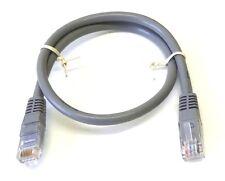 GREY Comlynx 0.5m Cat6 RJ45 Patch Ethernet Network LAN Internet Cable GIGABIT