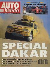 AUTO HEBDO n°757 du 12 Décembre 1990 PARIS DAKAR CITROEN ACTIVA 2 DEDRA TURBO