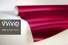 VVIVID8 Magenta chrome satin matte car wrap vinyl 100ft x5ft conform stretch