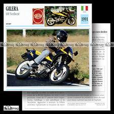 #034.09 GILERA 600 NORDWEST 1991 Trail Bike Fiche Moto Motorrad Motorcycle Card