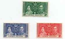 CAYMAN ISLANDS 1937 CORONATION Issue 3 Values to 2 1/2d FULL SET MINT Hinged.