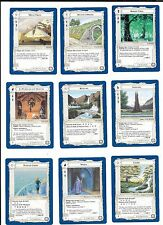 Lote 9 cartas SEÑOR DE LOS ANILLOS SDLA 1995 Lote 1/5  coleccion NM LOTR